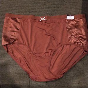 Cacique 26/28(4X) No-Show Full Brief Panty w/ Lace